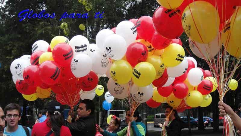 """Globo de látex 12"""" impreso y servicio de gas helio"""